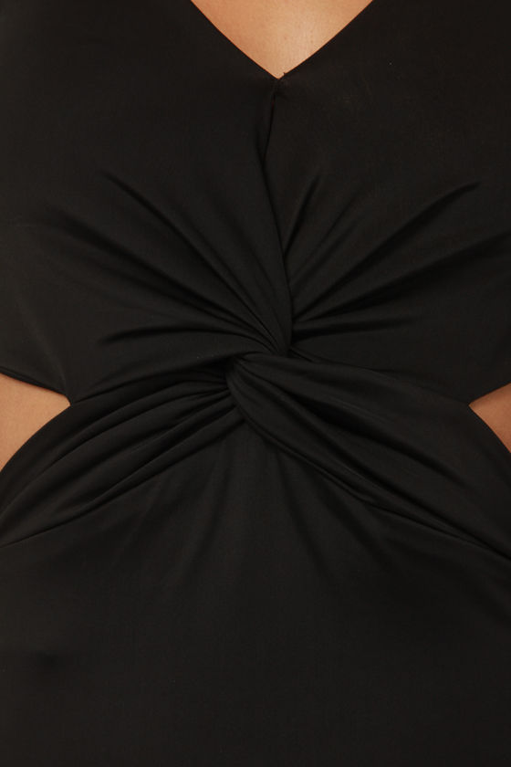 Knot Like Other Girls Black Maxi Dress at Lulus.com!
