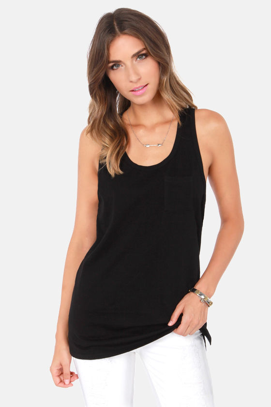 Tanks a Million Black Tank Top at Lulus.com!