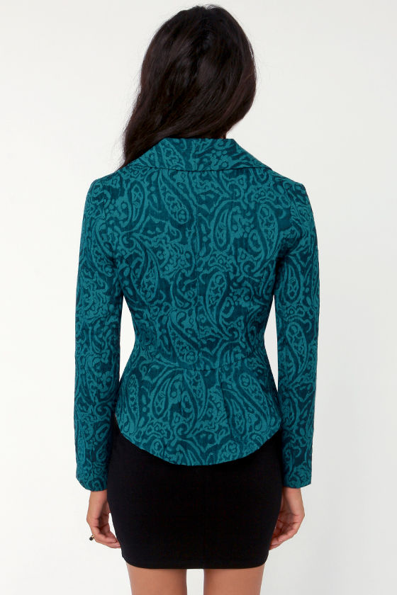 BB Dakota by Jack Bosch Blue Jacquard Blazer at Lulus.com!