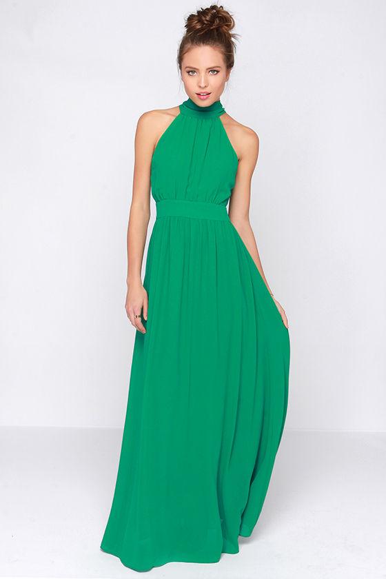 Maxi dress in green