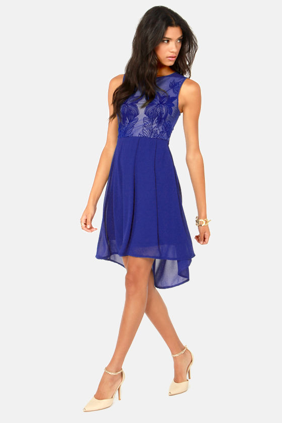 Foliage Before Beauty Blue Dress at Lulus.com!