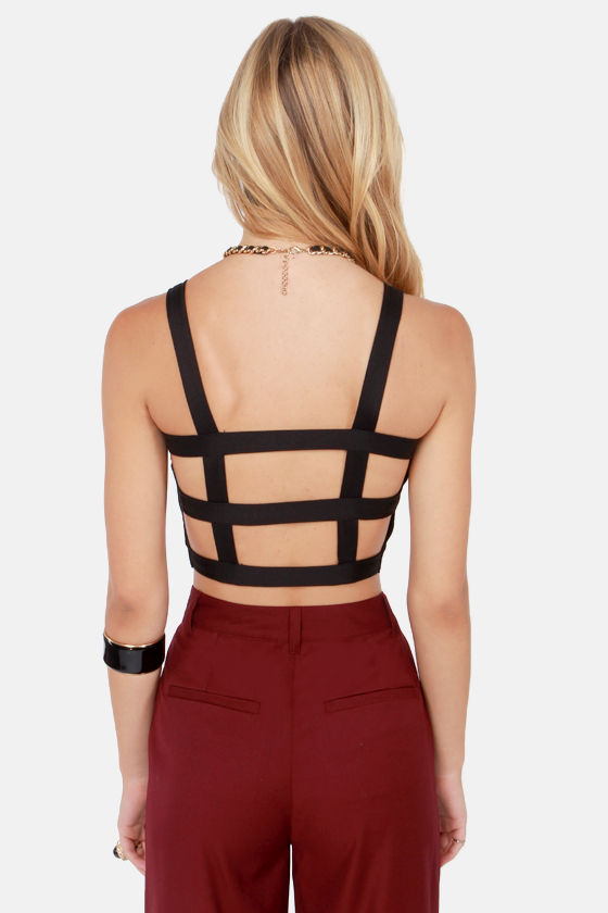 Meet Your Cage Match Black Bustier Top at Lulus.com!