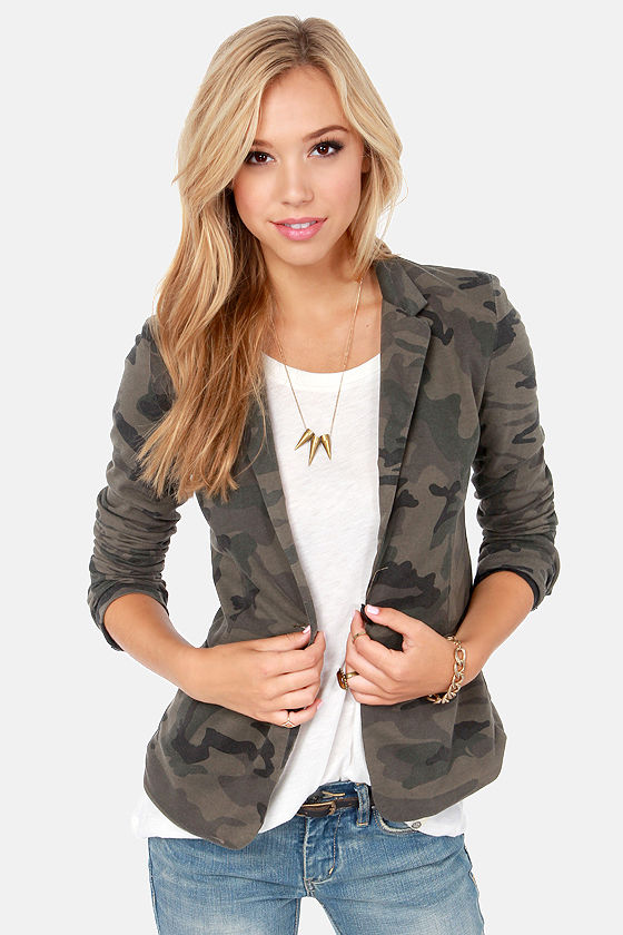 Collection Olive Green Blazer Womens Pictures - Reikian