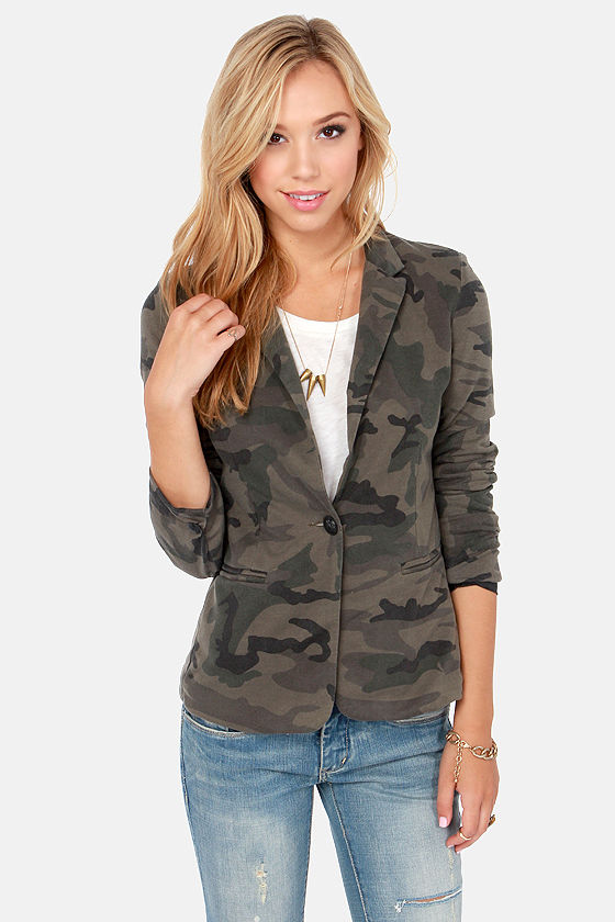Nothing to Hide Washed Camo Print Blazer at Lulus.com!