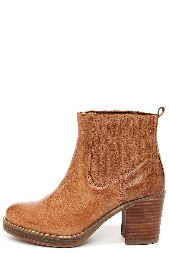 MTNG 93522 Bree - Tan Leather Boots - Ankle Boots - $105.00