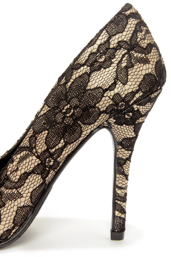 My Delicious Date Beige Lace Pointed Pumps at Lulus.com!