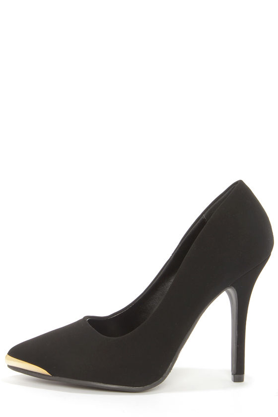 My Delicious Daber Black Nubuck Pointed Pumps at Lulus.com!