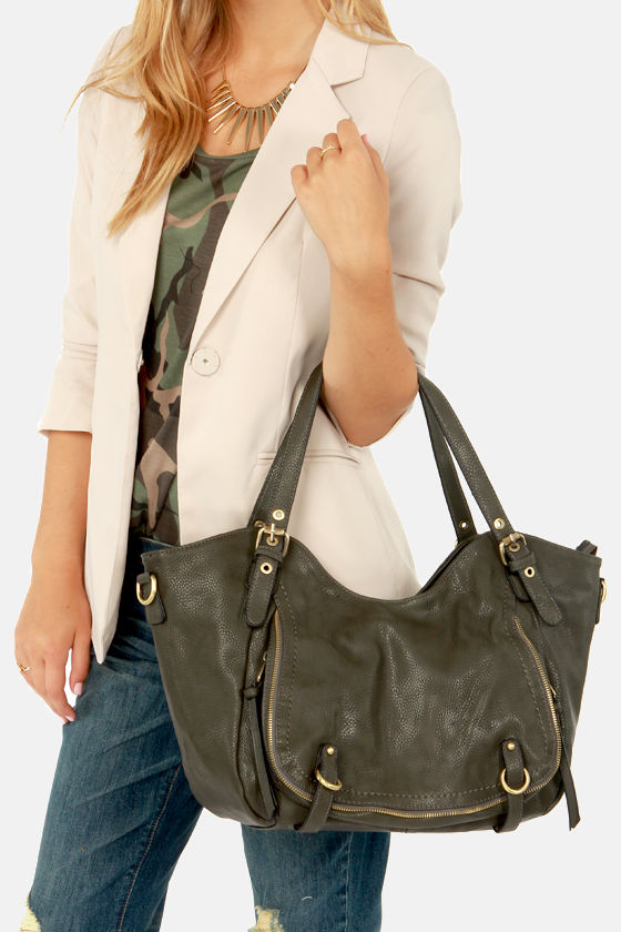 Bags to Riches Dark Grey Tote at Lulus.com!