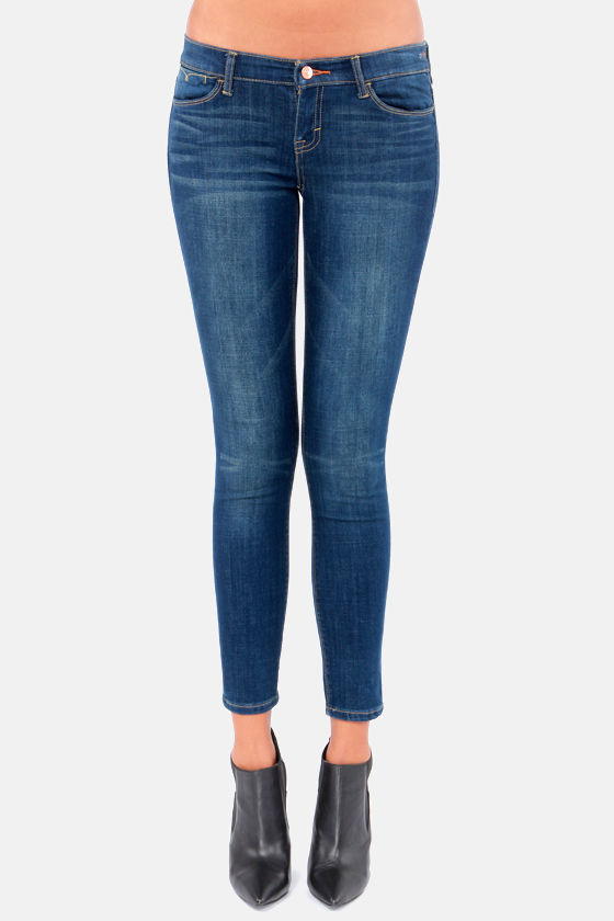 Dittos Selena Blue Mid Rise Ankle Skinny Jeans at Lulus.com!