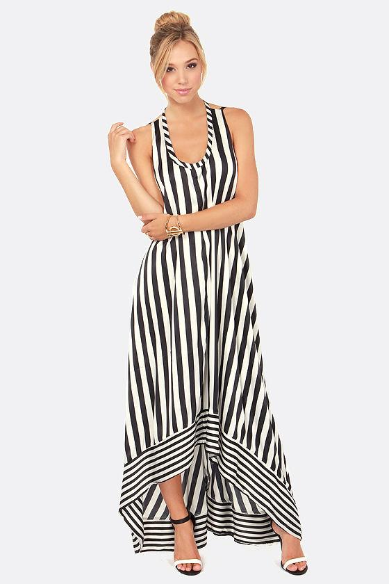 9764ada10c8e Cute Striped Dress - Maxi Dress - High-Low Dress -  108.00