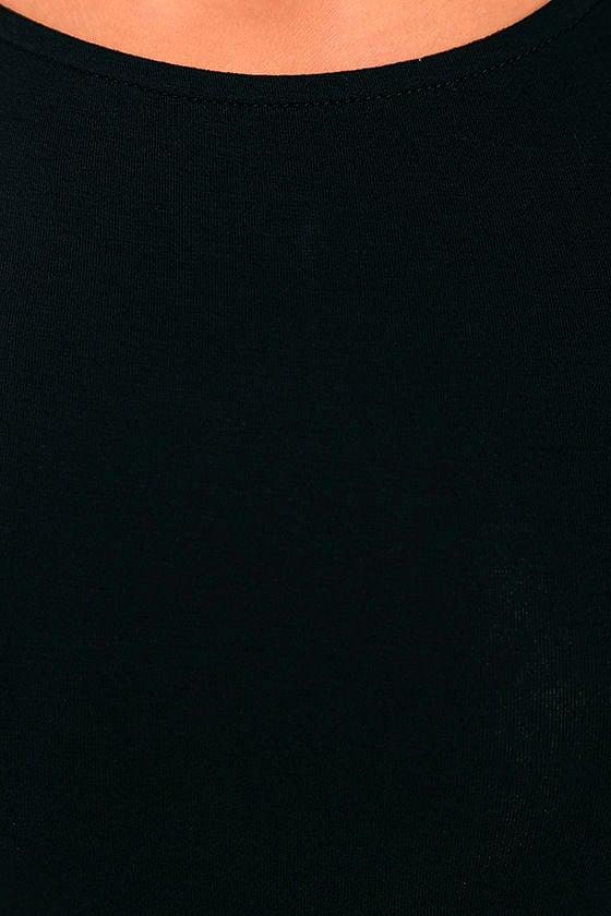 LULUS Exclusive Comeback Baby Black Dress 6