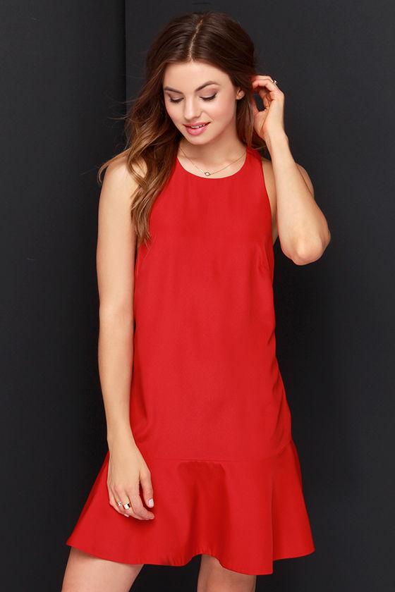 Keepsake Better Off Alone Red Dress