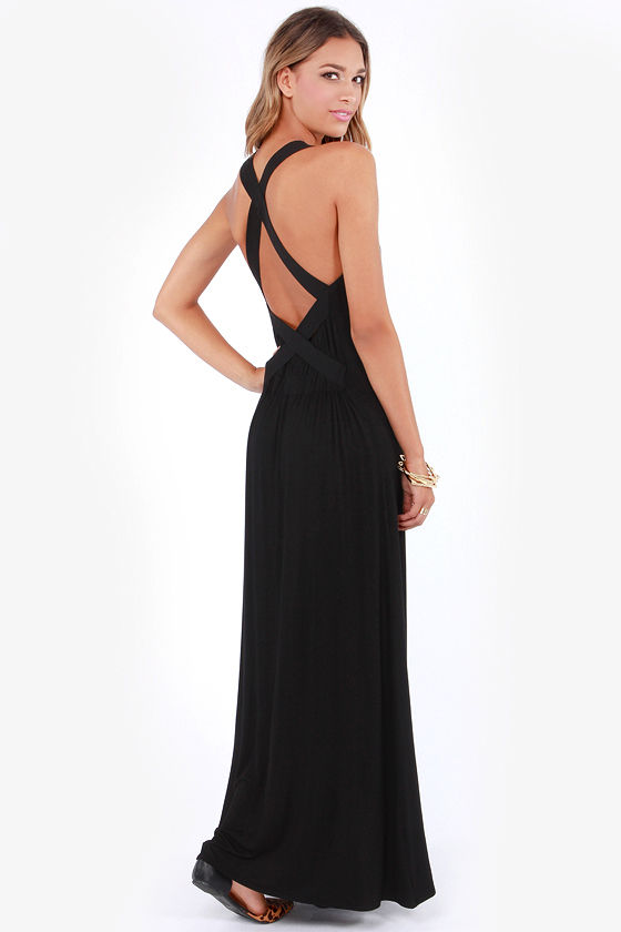 Get Your X Back Black Maxi Dress at Lulus.com!