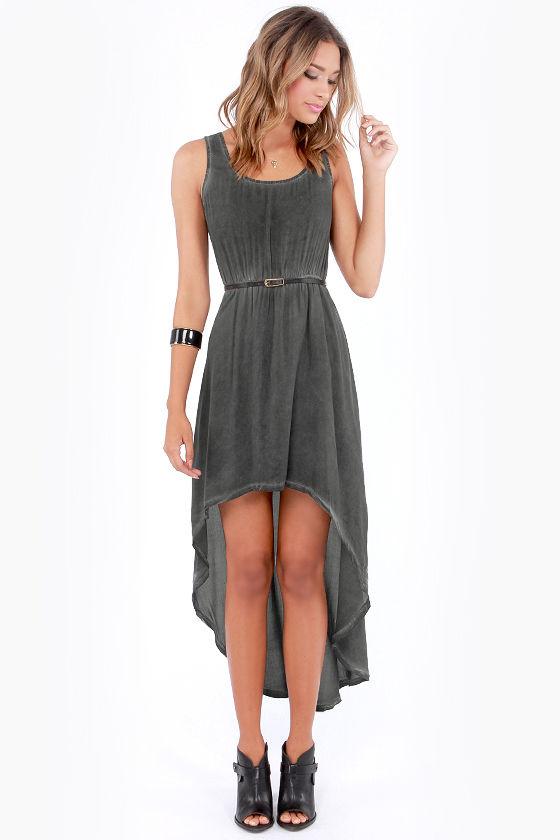 Cute Grey Dress High Low Dress Maxi Dress 55 00