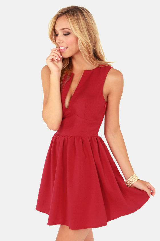 Smiles Per Hour Red Dress at Lulus.com!