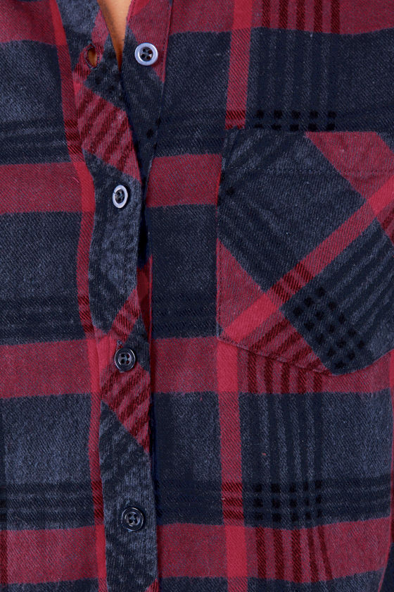 O'Neill Jaxon Blue Flannel Button-Up Top at Lulus.com!