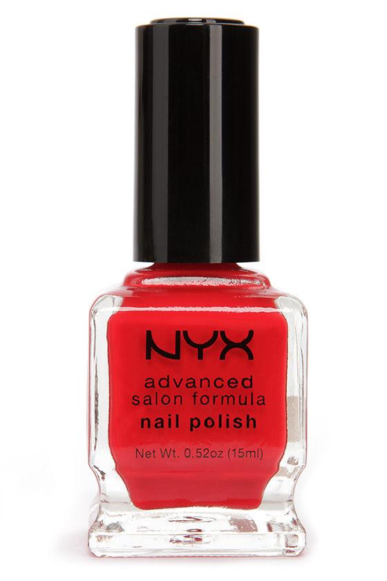 Red Nail Polish - Bright Red Nail Polish - Nail Lacquer - $4.00