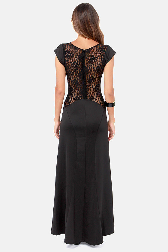 Bewitching Hour Black Lace Maxi Dress at Lulus.com!