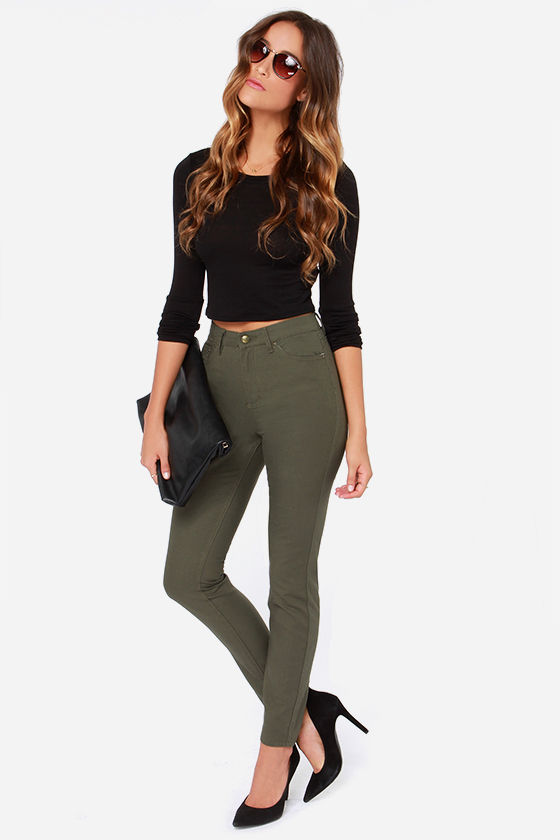 Obey Kershaw - Green Jeans - High Waisted Jeans - $57.00