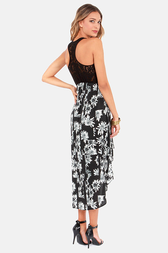Element Eden Rachel Black Floral Print Dress at Lulus.com!