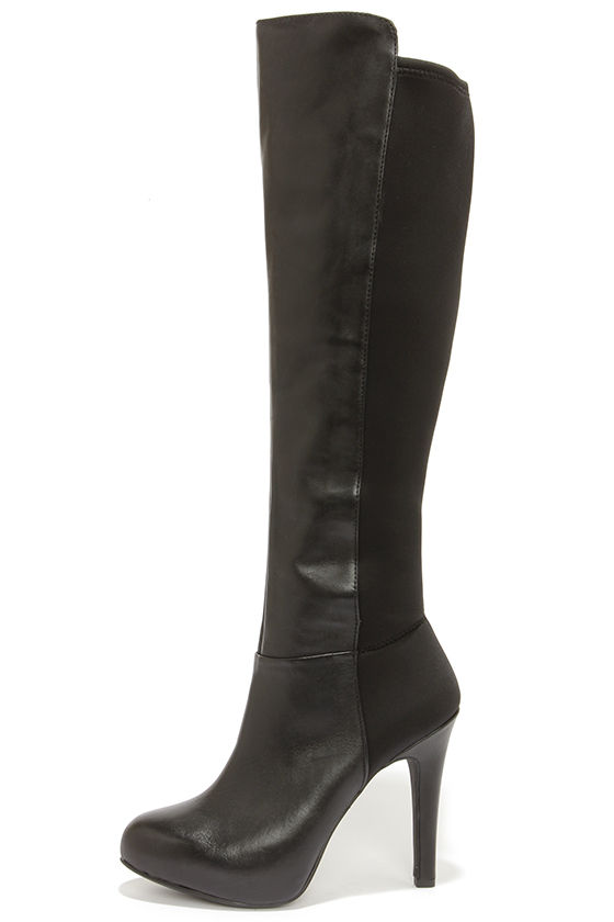 Sexy Black Boots - Knee High Boots - High Heel Boots - $179.00