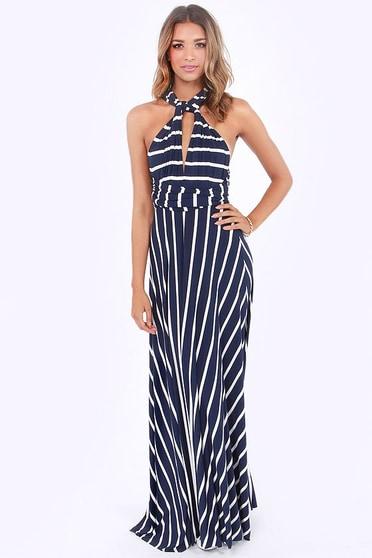1658bd413a Awesome Striped Dress - Maxi Dress - Wrap Dress -  78.00