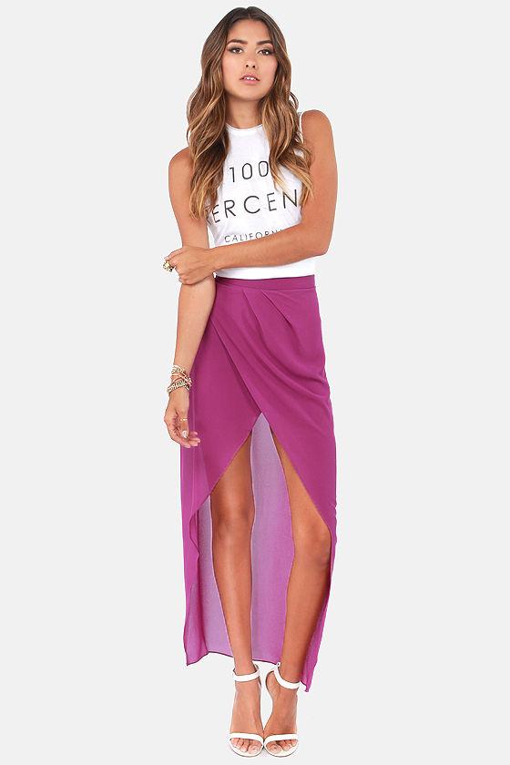 Comet's Tail Purple Skirt at Lulus.com!