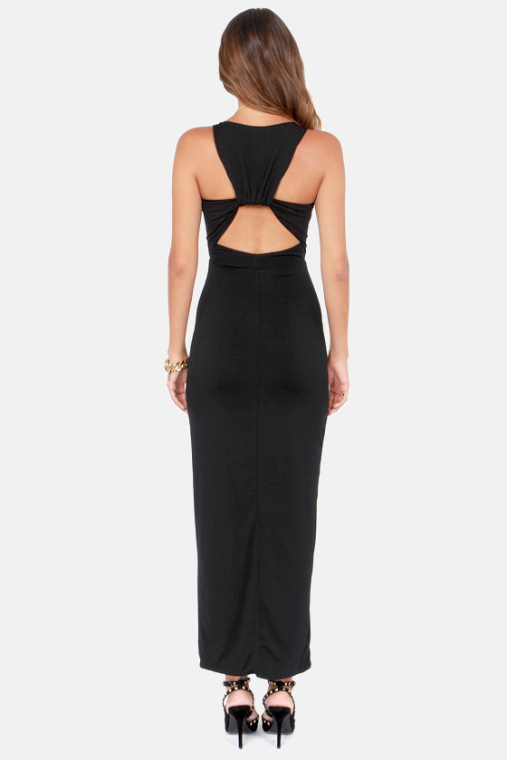 Worth Your While Backless Black Maxi Dress at Lulus.com!