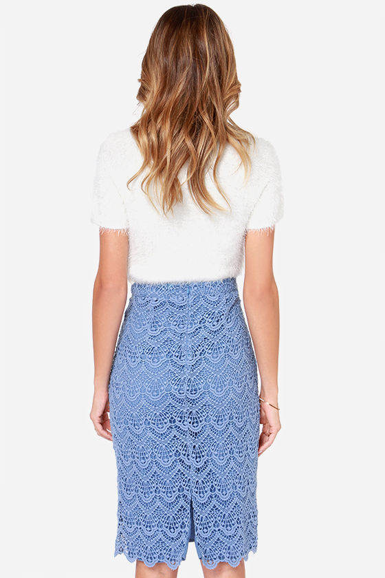 light blue skirt pencil skirt midi skirt 9300