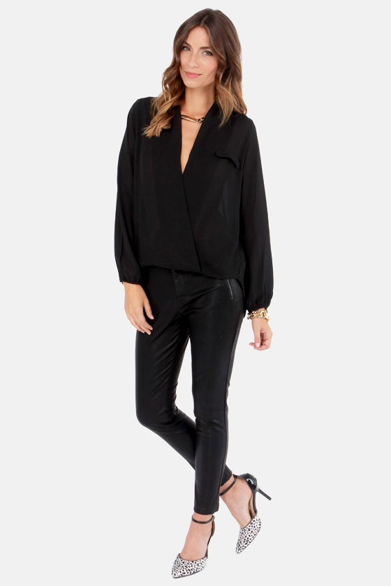 V Belong Together Black Top at Lulus.com!