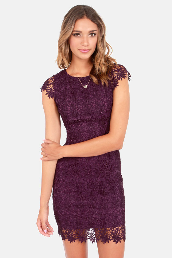 Rubber Ducky Suite Life Backless Purple Lace Dress at Lulus.com!
