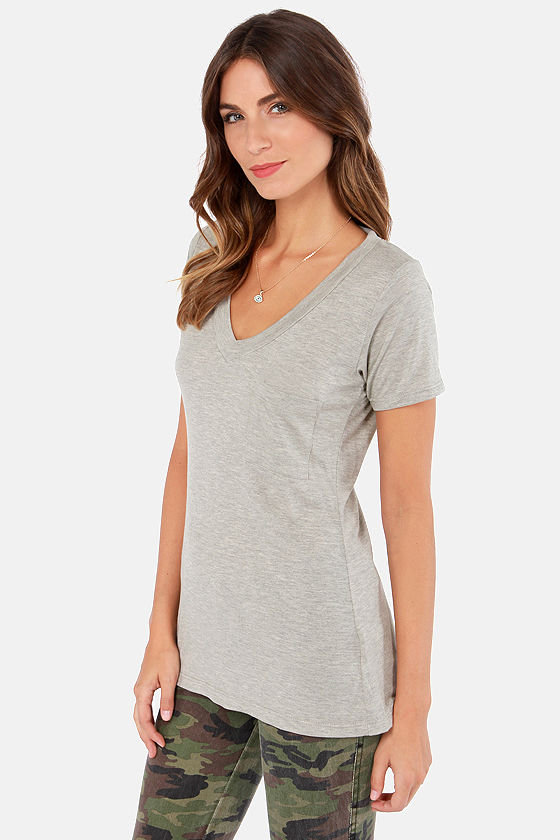 Tonight, V Are Young Grey Tee at Lulus.com!