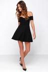 e3243b5caff5 Little Black Dress Off The Shoulder Dress Skater Dress 4300