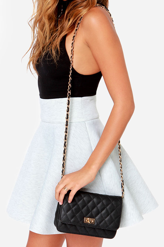 Finer Things Black Quilted Purse