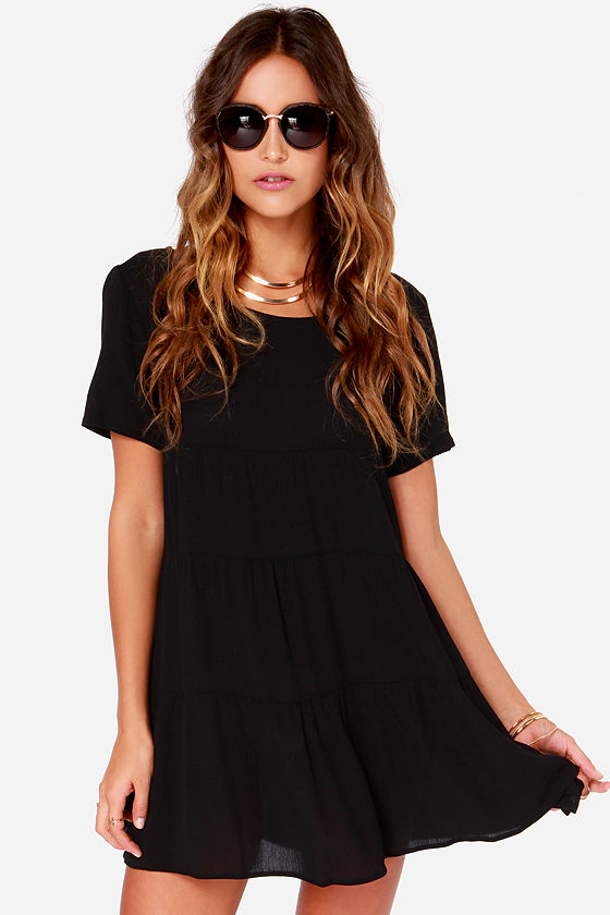 Chic Black Dress - Shift Dress - LBD - $41.00