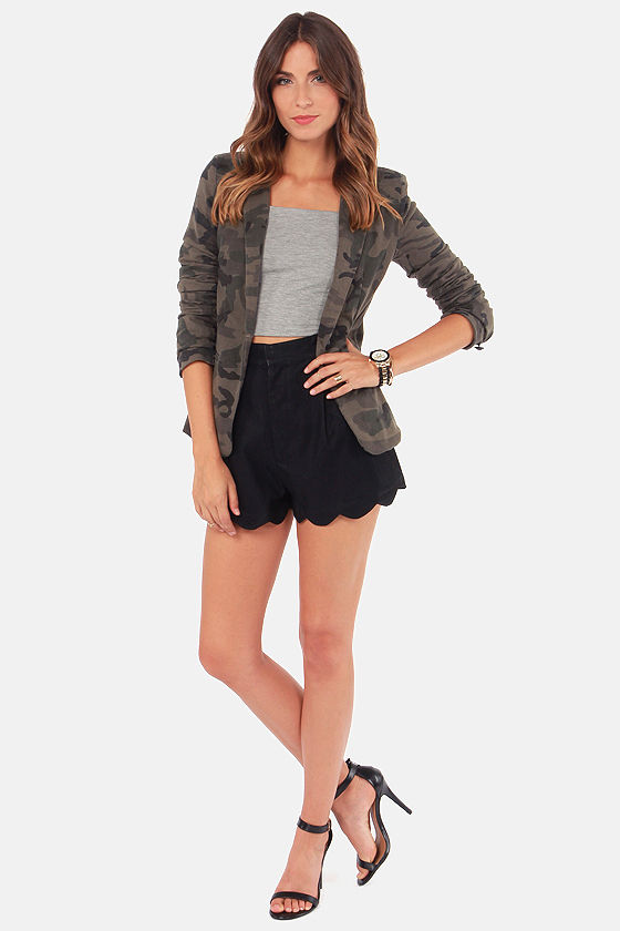 Mink Pink Sport Luxe Black Vegan Leather Shorts at Lulus.com!