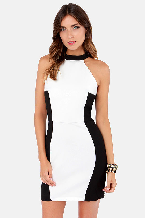 Costa Blanca Been Around the Color Block Black and Ivory Dress at Lulus.com!