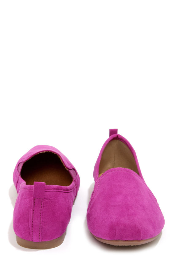 Bamboo Rosalba 01Y Purple Suede Loafer Flats at Lulus.com!