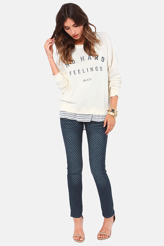 Dot's Outrageous Polka Dot Skinny Jeans at Lulus.com!