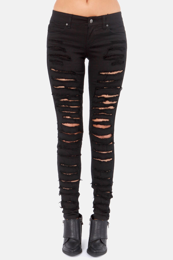Tripp NYC Black Cat Fight Jeans - Black Jeans - Skinny Jeans - $79.00