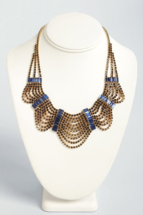 American Regal Blue Necklace at Lulus.com!