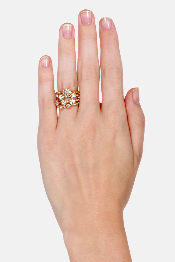 A Stone to Pick Gold Ring Set at Lulus.com!