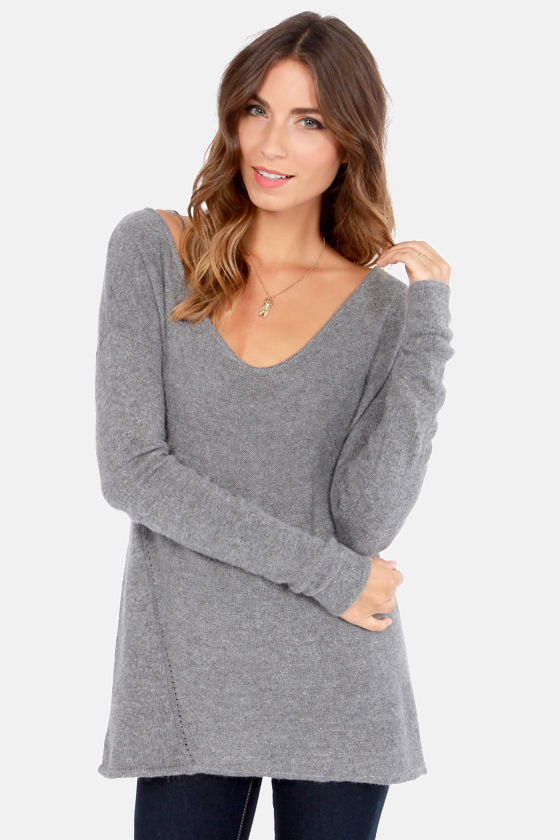 Ready or Knit Grey Sweater at Lulus.com!