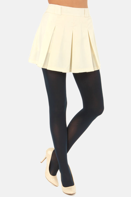 Tabbisocks Opaque a Wish Navy Blue Tights at Lulus.com!