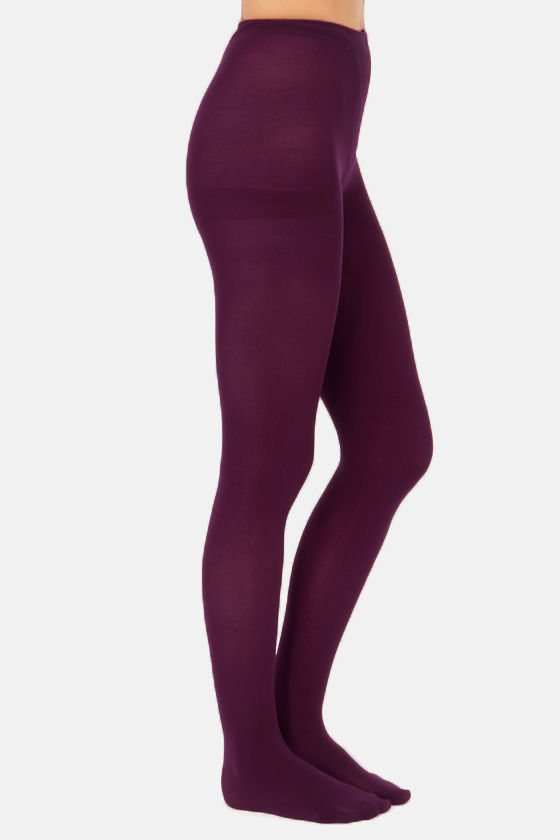Tabbisocks Opaque a Wish Merlot Tights at Lulus.com!