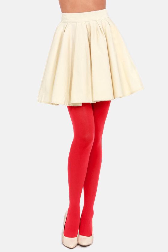 Tabbisocks Opaque a Wish Tomato Red Tights at Lulus.com!