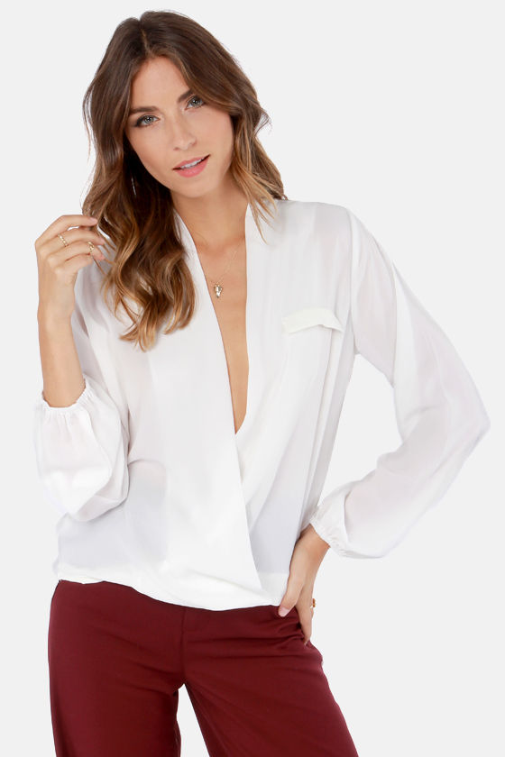 V Belong Together Ivory Top at Lulus.com!