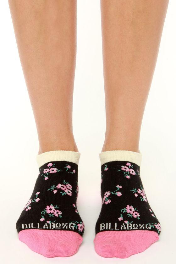 Billabong Fancy Dants Floral Print Ankle Socks at Lulus.com!