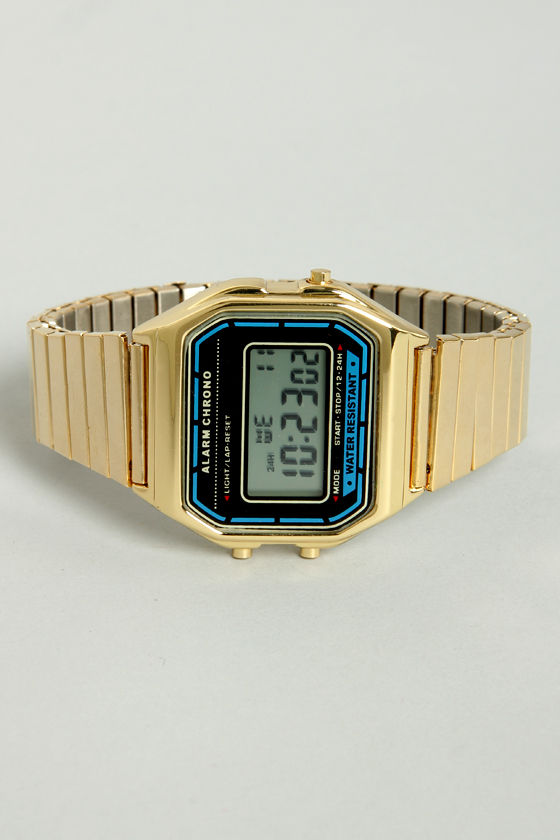 Digital Zone Gold Watch at Lulus.com!