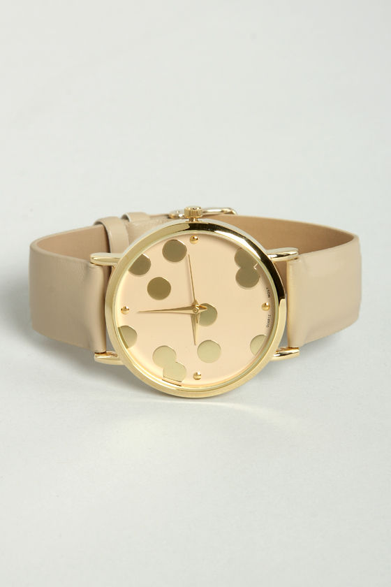 It's A-Dot Time Taupe Watch at Lulus.com!